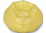 098 Yellow Matte Bean Bag