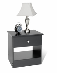 1 Drawer Night Stand in Black - Prepac Furniture - BBD-2020-1