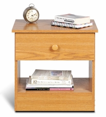 1 Drawer Night Stand in Oak - Prepac Furniture - OBD-2020-1