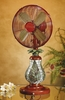 "10"" Mosaic Glass Table Fan - Ferns - Deco Breeze - DBF0752"