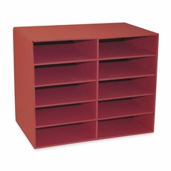 10-Shelf Organizer - Red - PAC001314
