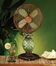 "10"" Table Fan - Mosaic Glass Pineapple- Deco Breeze - DBF0247"