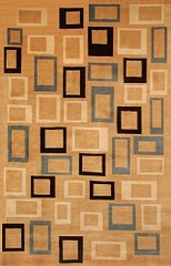100% Wool Handknotted Rug - 5' x 8' - Aspen 5049 - International Rugs