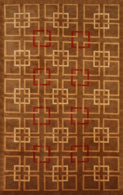100% Wool Handknotted Rug - 8' x 10' - Aspen 5052 - International Rugs