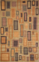 100% Wool Handmade Rug - Lifestyle 9325 - 5' x 8' - International Rugs - SI-SAM-LIFESTYLE-9325-1
