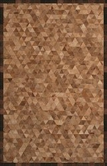 100% Wool/Leather Handmade Rug - 5' x 8' - River 9445 - International Rugs