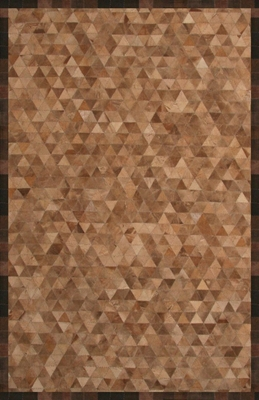 100% Wool/Leather Handmade Rug - 8' x 10' - River 9445 - International Rugs