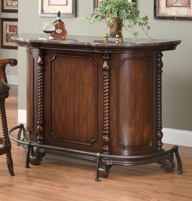 100670 Traditional Bar Unit with Marble Top - 100678