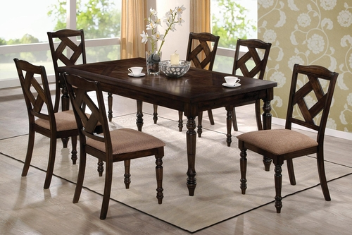 1033 Dining Table with Six Upholstered Side Chairs - 103381