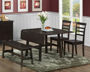 103370 Casual Four Piece Kitchen Dining Set with Bench - 103371