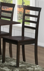 103370 Chair with Slat Back - Set of 2 - 103372