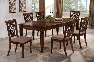 10339 7PC Dining Table & Upholstered Chair Set - 103391