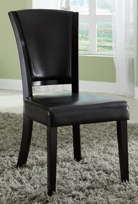 1036 Upholstered Side Chair in Brown - Set of 2 - 103682BRN