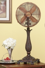 "12"" Deco Table Top Fan - Rococco- Deco Breeze - DBF0239"