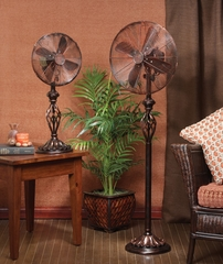 "12"" Table Top Fan - Prestige Rustica- Deco Breeze - DBF0503"