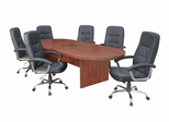 "120"" Legacy Conference Table with 6 Carrera 1040 Swivel Chairs - ROF-LCTRT120471040BK"
