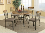 1207 5PC Metal and Wood Dining Table Set  - 120771