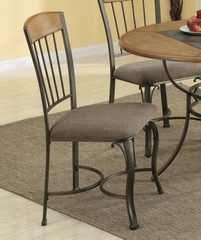 1207 Dining Side Chair with Metal Legs - Set of 2 - 120772
