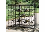 15 Bottle Folding Wine Cage - Black - Pangaea Home and Garden Furniture - FM-C4446-15-K