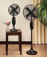 "16"" Deco Floor Standing Fan - Blackwood- Deco Breeze - DBF0554"