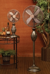 "16"" Floor Fan - Fleur De Lis - Deco Breeze - DBF0276"