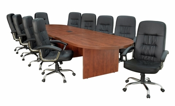 "168"" Legacy Conference Tabley with 10 Carrera 1040 Swivel Chairs - ROF-LCTRT168521040BK"