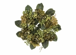 "18"" Artichoke Wreath in Green - Nearly Natural - 4628"