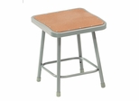 "18"" Lab Stool with Hardboard Seat - National Public Seating - 6318"