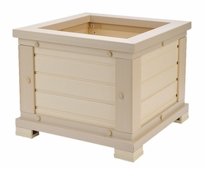"18"" Square Planter in Natural Cedar - NewAgeGarden - EPLT101-S18"