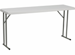 18''W x 60''L Granite White Plastic Folding Training Table - RB-1860-GG