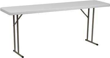 18''W x 72''L Granite White Plastic Folding Training Table  - RB-1872-GG