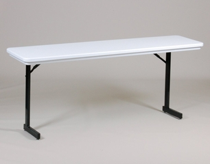 "18"" x 72"" Blow-Molded Plastic T-Leg Seminar Folding Table - Correll Furniture - R1872TL"