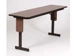"18"" x 72"" High-Pressure Panel Leg Folding Seminar Table - Correll Furniture - SP1872PX"
