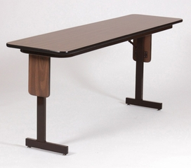 "18"" x 96"" High-Pressure Panel Leg Folding Seminar Table - Correll Furniture - SP1896PX"