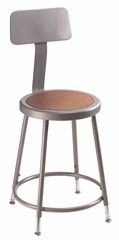 "19""-27 Adjustable Lab Stool with Backrest - National Public Seating - 6218HB"