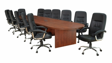 "192"" Legacy Conference Table with 12 Carrera 1040 Swivel Chairs - ROF-LCTRT192521040BK"