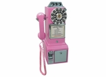 1950's Classic Pay Phone in Pink - Crosley - CR56-PI
