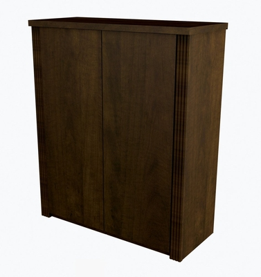 2 Door Cabinet in Chocolate - Prestige Plus - Bestar Office Furniture - 99510-69