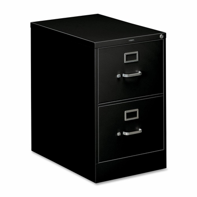 2 Drawer Filing Cabinet in Black - HON312CPP