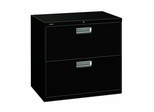 2 Drawer Locking Lateral File Cabinet in Black - HON672LP