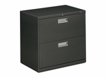 2 Drawer Locking Lateral File Cabinet in Charcoal - HON672LS