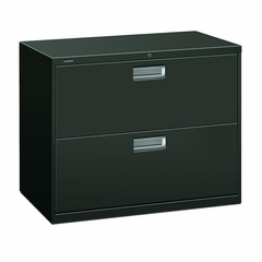 2 Drawer Locking Lateral File Cabinet in Charcoal - HON682LS