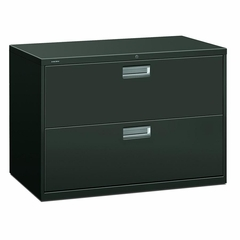 2 Drawer Locking Lateral File Cabinet in Charcoal - HON692LS
