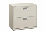 2 Drawer Locking Lateral File Cabinet in Gray - HON672LQ