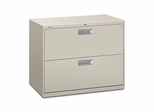 2 Drawer Locking Lateral File Cabinet in Gray - HON682LQ