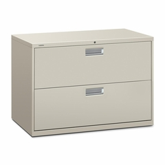 2 Drawer Locking Lateral File Cabinet in Light Gray - HON692LQ