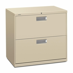 2 Drawer Locking Lateral File Cabinet in Putty - HON672LL