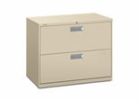 2 Drawer Locking Lateral File Cabinet in Putty - HON682LL