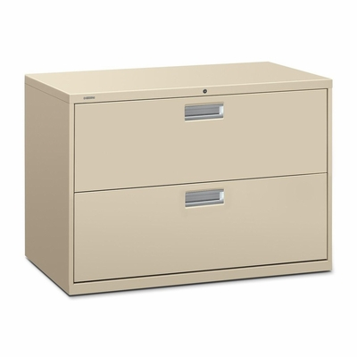 2 Drawer Locking Lateral File Cabinet in Putty - HON692LL