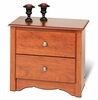 2 Drawer Night Stand in Cherry - Monterey Collection - Prepac Furniture - CDC-2422